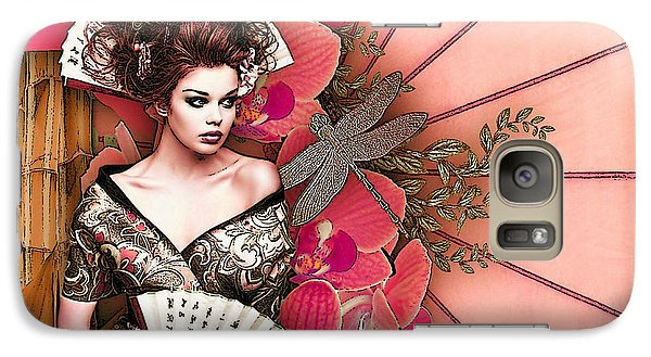 Galaxy Case featuring the digital art Asian Tranquility  by Digital Art Cafe