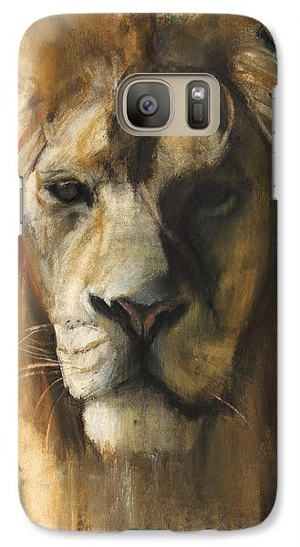 Asiatic Lion Galaxy S7 Case by Mark Adlington