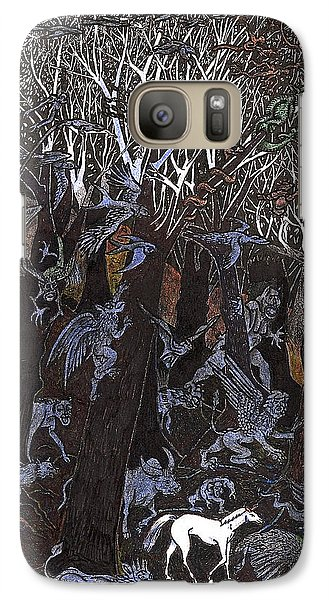 Galaxy Case featuring the drawing Asil In Shitaki Forest by Al Goldfarb