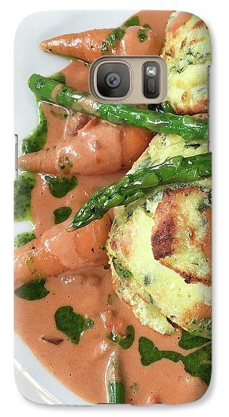 Asparagus Dish Galaxy S7 Case by Tom Gowanlock