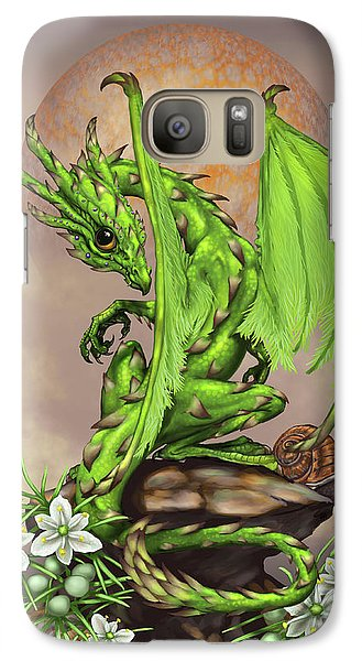 Galaxy Case featuring the digital art Asparagus Dragon by Stanley Morrison