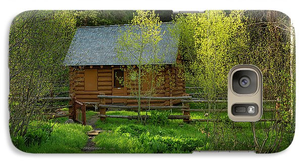 Galaxy Case featuring the photograph Aspen Cabin by Leland D Howard