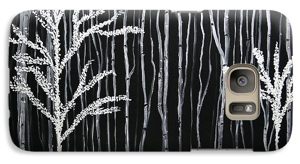 Galaxy Case featuring the painting Aspen Forest by Dolores  Deal