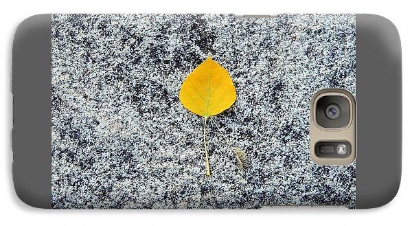 Aspen Leaf On Stone Galaxy S7 Case