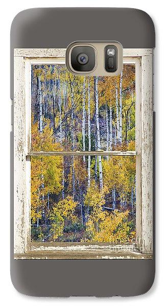 Aspen Tree Magic Cottonwood Pass White Farm House Window Art Galaxy S7 Case