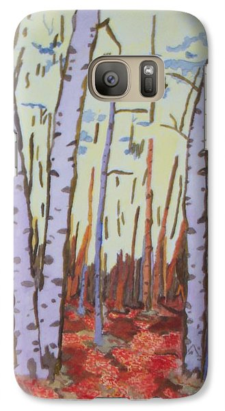 Galaxy Case featuring the painting Aspen Trees by Connie Valasco