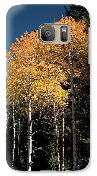 Galaxy Case featuring the photograph Aspens And Sky by Steve Stuller