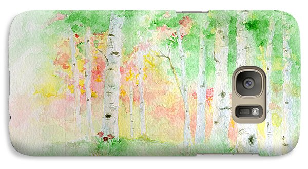 Galaxy Case featuring the painting Aspens by Andrew Gillette