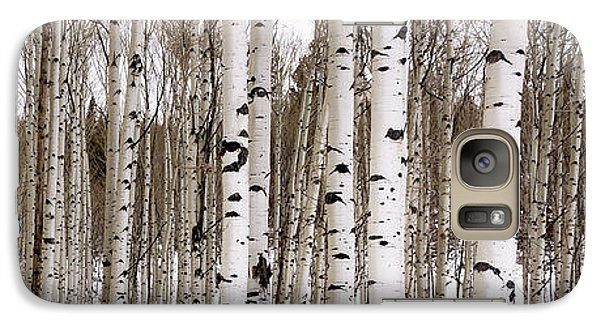 Mountain Galaxy S7 Case - Aspens In Winter Panorama - Colorado by Brian Harig