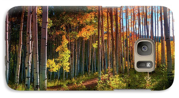 Galaxy Case featuring the photograph Aspens Of The West Elk Mountains by John De Bord