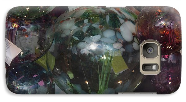Galaxy Case featuring the photograph Assorted Witching Balls by Suzanne Gaff