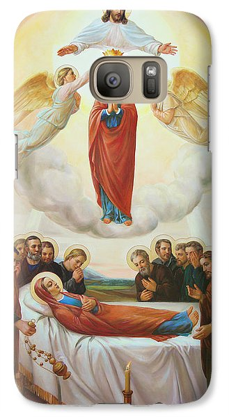Galaxy Case featuring the painting Assumption Of The Blessed Virgin Mary Into Heaven by Svitozar Nenyuk