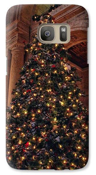 Galaxy Case featuring the photograph Astor Hall Christmas by Jessica Jenney