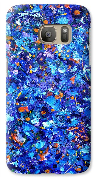 Galaxy Case featuring the painting Astral Projection by Lynda Lehmann