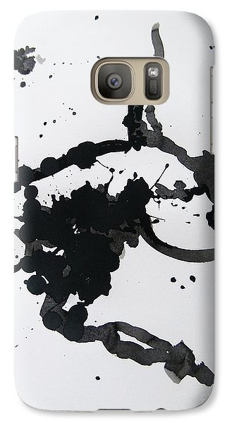 Galaxy Case featuring the painting Asymmetry Inspires Grace by Roberto Prusso