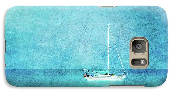 Galaxy Case featuring the mixed media At Anchor by Betty LaRue