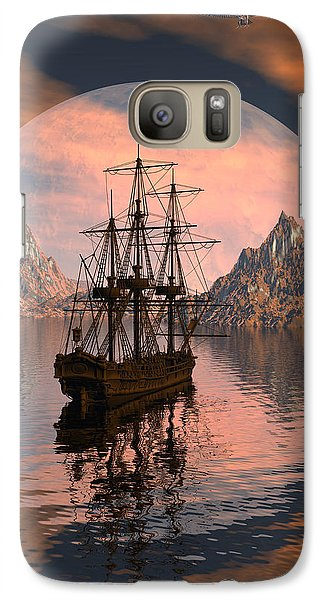 Galaxy Case featuring the digital art At Anchor by Claude McCoy