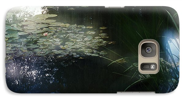 Galaxy Case featuring the photograph At Claude Monet's Water Garden 3 by Dubi Roman