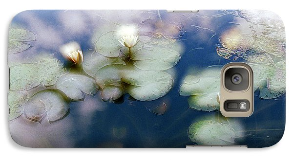 Galaxy Case featuring the photograph At Claude Monet's Water Garden 4 by Dubi Roman