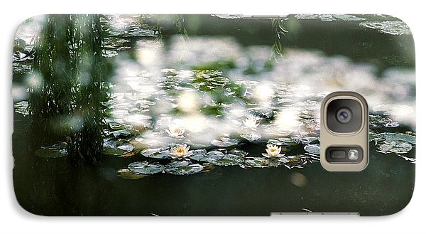 Galaxy Case featuring the photograph At Claude Monet's Water Garden 5 by Dubi Roman