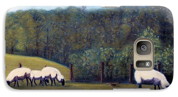 Galaxy Case featuring the pastel At Pasture by Jan Amiss
