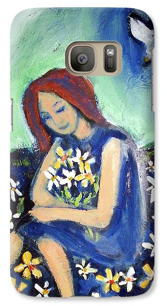 Galaxy S7 Case featuring the painting At Peace by Winsome Gunning