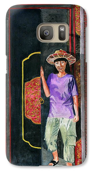 Galaxy Case featuring the painting At Puri Kelapa by Melly Terpening