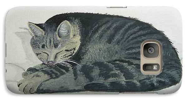 Galaxy Case featuring the painting At Rest by Norm Starks