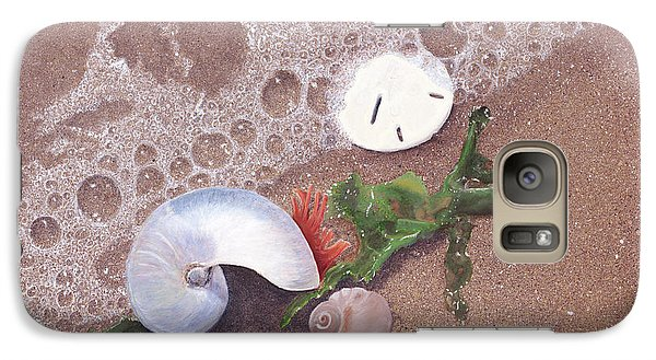 Galaxy Case featuring the painting At Shore's Edge by Cindy Lee Longhini