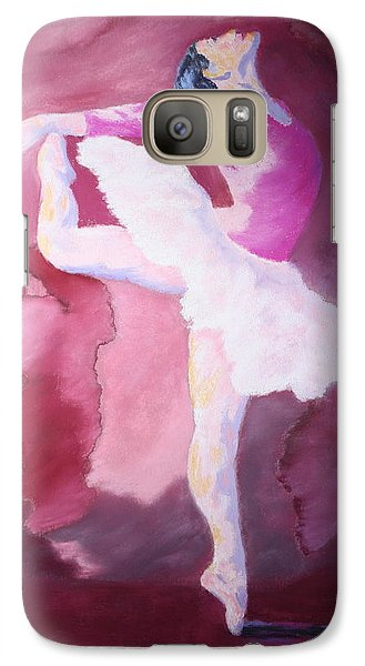 Galaxy Case featuring the painting At The Ballet by Nancy Jolley