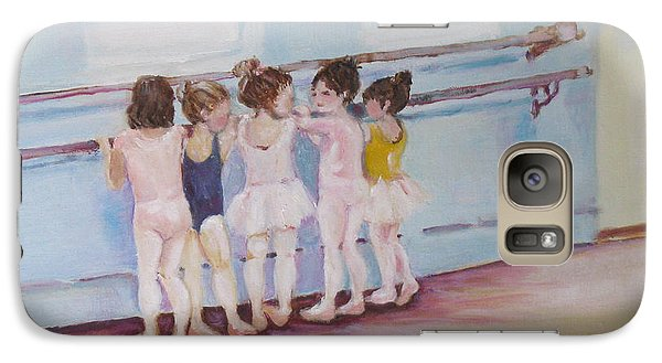 Galaxy Case featuring the painting At The Barre by Julie Todd-Cundiff