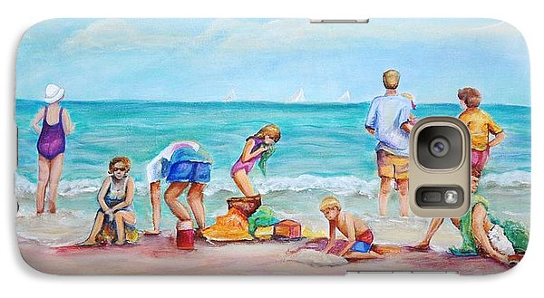 Galaxy Case featuring the painting At The Beach by Patricia Piffath