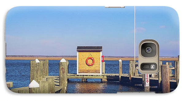 Galaxy Case featuring the photograph At The Dock by Colleen Kammerer