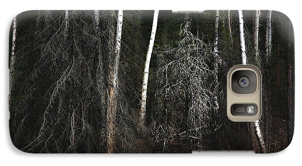 Galaxy Case featuring the photograph At The Edge Of The Forest  by Jim Vance
