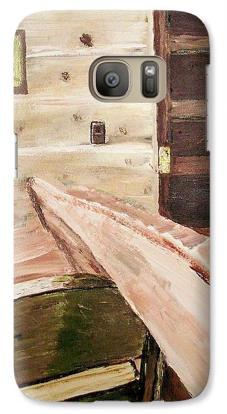 Galaxy Case featuring the painting At The End Of A Day by Shelley Bain