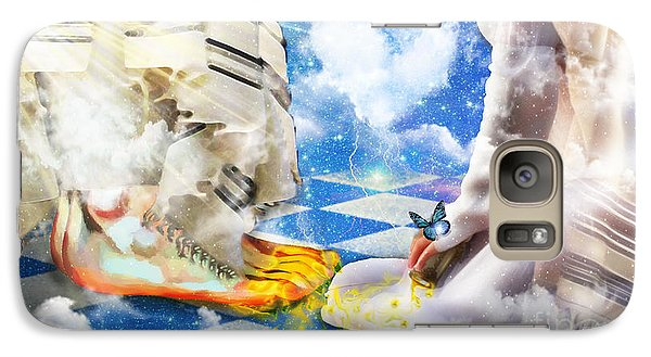 Galaxy Case featuring the digital art At The Feet Of Jesus by Dolores Develde
