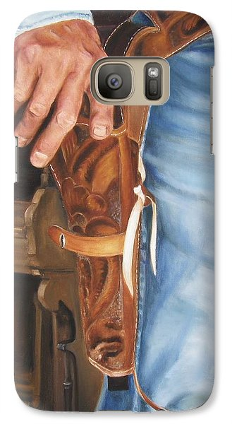 Galaxy Case featuring the painting At The Ready by Lori Brackett
