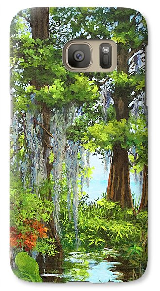 Galaxy Case featuring the painting Atchafalaya Swamp by Dianne Parks