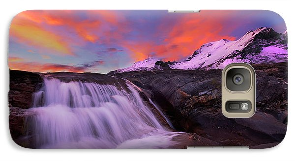 Galaxy Case featuring the photograph Athabasca On Fire by Dan Jurak