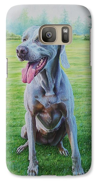 Galaxy Case featuring the painting Athena by Mike Ivey
