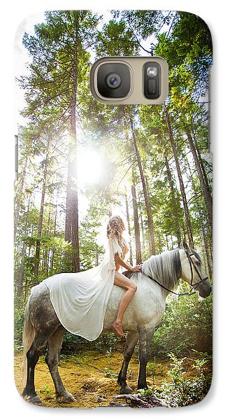 Galaxy Case featuring the photograph Athena's Clearing by Dario Infini