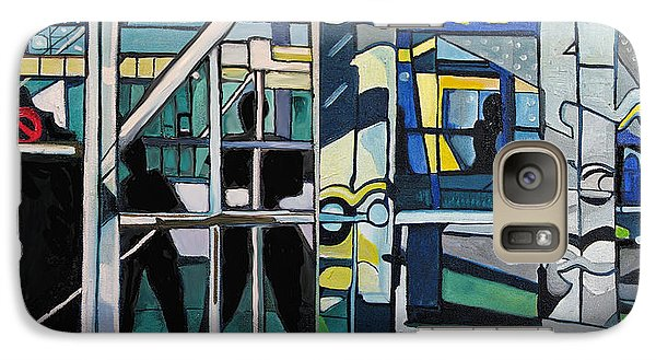 Galaxy Case featuring the painting Atlanic City Abstract No.1 by Patricia Arroyo