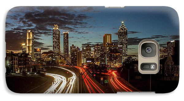 Galaxy Case featuring the photograph Atlanta Downtown Infusion Atlanta Sunset Cityscapes Art by Reid Callaway