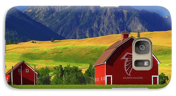 Galaxy Case featuring the photograph Atlanta Falcons Barn by Movie Poster Prints