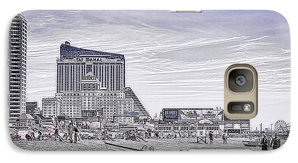 Galaxy Case featuring the photograph Atlantic City by Linda Constant