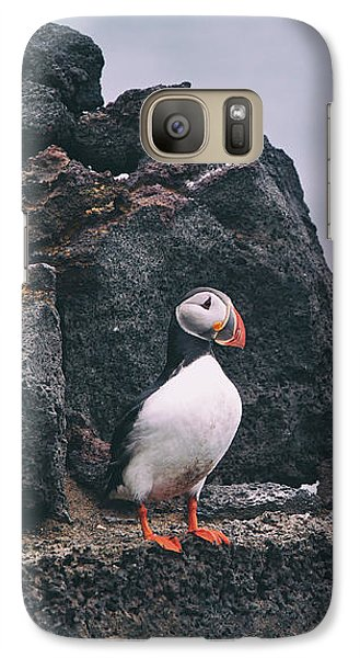 Puffin Galaxy S7 Case - Atlantic Puffin by Happy Home Artistry
