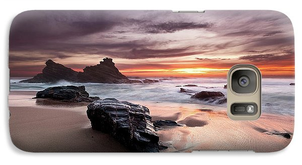 Galaxy Case featuring the photograph Atlantic Seashore by Jorge Maia