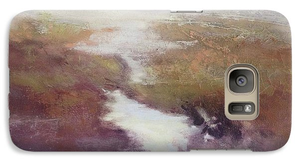 Galaxy Case featuring the painting Atlanticsaltmarsh by Helen Harris