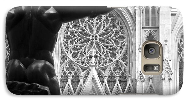 Galaxy Case featuring the photograph Atlas And St. Patrick's Cathedral by Michael Dorn