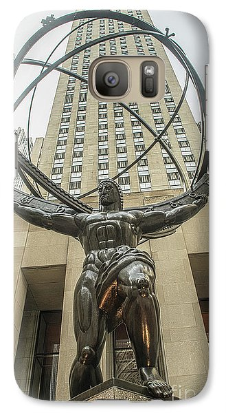 Galaxy Case featuring the photograph Atlas Rockefeller Center by Timothy Lowry